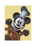 Mickey at the Helm Poster