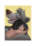 Baloo and Mowgli Prints