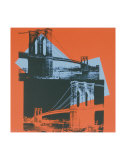 Brooklyn Bridge, c.1983 (black, red, blue) Posters van Andy Warhol
