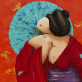 Geisha II Prints by Susan De Waardt-ruiter