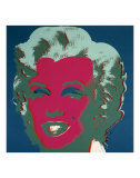 Marilyn, c.1967 (On Peacock Blue, Red Face) Plakat af Andy Warhol
