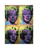 Four Marilyns, c.1962 Posters par Andy Warhol