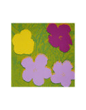 Flowers, c.1970 (Yellow, Lilac, Purple) Art by Andy Warhol