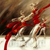 Dancing Ribbons Poster von Kitty Meijering