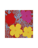 Flowers, c.1970 (Red, Pink, Yellow) Poster von Andy Warhol