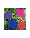 Andy Warhol - Flowers (Purple, Blue, Pink, Red) - Sanat