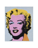 Marilyn, c.1964 (On Light Gray-Blue) Art par Andy Warhol