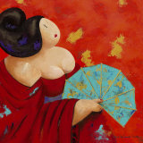Geisha I Print by Susan De Waardt-ruiter