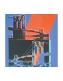 Brooklyn Bridge, c.1983 (pink, red, blue) Affiches van Andy Warhol