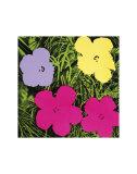 Blumen, ca.1970 (1 lila, 1 gelb, 2 rosa) Poster von Andy Warhol
