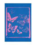 Andy Warhol - Vanishing Animals: Butterflies, c.1986 (Hot Pink on Blue) Obrazy