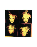 Andy Warhol - Self-Portrait, c.1986 (Four Yellow Andy's) Plakát