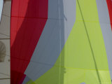 Close View of the Colorful Sails of a Sailboat, Groton, Connecticut Photographic Print by Todd Gipstein