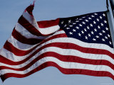 American Flag Waving in the Breeze Photographic Print by Todd Gipstein