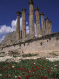 Columns in the Ancient Roman City in Jaresh, Jordan Fotografie-Druck von Richard Nowitz