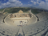 Ancient Theater in Ancient Roman City in Jaresh, Jordan Fotografie-Druck von Richard Nowitz