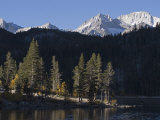 Bear Creek Spire and Mount Abbot above Rock Creek Lake, California Photographic Print by Rich Reid