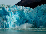 Blue Ice Calving Along Glacier Front of South Sawyer Glacier, Alaska Photographie par Ralph Lee Hopkins