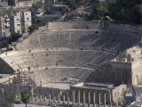 Ancient Theater in Roman City in Jaresh, Jordan Fotografie-Druck von Richard Nowitz