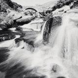 Three Shires Head Falls, Peak District Poster von Dave Butcher