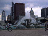 Bikers Tour Around Chicago Photographic Print by Stacy Gold