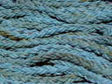 Close View of Blue Nautical Ropes Photographic Print by Todd Gipstein