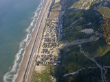 Aerial of la Conchita Mudslide That Killed Ten People in January 2005, California Photographie par Rich Reid