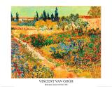 Bluhender Garten mit Pfad Láminas por Vincent van Gogh