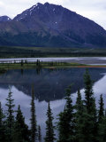 Beautiful Mountain Reflection in Alaska Photographic Print by Stacy Gold
