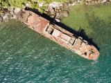 Abandoned Cargo Ship on Nosy Mangabe, Madagascar Photographic Print by Michael Fay