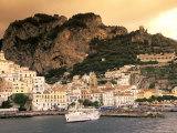 Almafi, Italy Including a Fishing Harbour at Sunset Photographic Print by Richard Nowitz