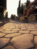Ancient Roman Street Via Delle Tombe in Pompeii, Italy Fotografie-Druck von Richard Nowitz