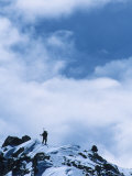 Climber on the Airy Traverse of the West Butress, Alaska Photographic Print by Bill Hatcher