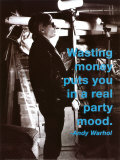 Wasting Money Poster van Billy Name