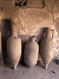 Ancient Wine Clay Vases in a Wine Store Using the Amphora Storage System in Pompeii, Italy Fotografie-Druck von Richard Nowitz