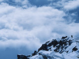 Climber Descends from 17,000 Camp on the The West Butress on Denali, Alaska Photographic Print by Bill Hatcher