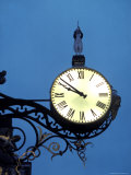Clock Off the Side Oa a Church at Night in York, England Fotografie-Druck von Richard Nowitz