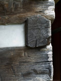Close-Up Detail of the Corner of an 18th Century Log Cabin Photographic Print by Todd Gipstein