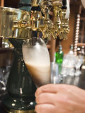 Bartender Pours a Beer from the Tap in Jimmy's Pub in Ojai, California Photographic Print by Rich Reid