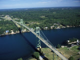 Aerial View of the Thousand Island Bridge and the Saint Lawrence River in New York Photographic Print by Richard Nowitz