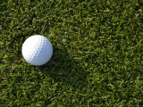 Close View of a Golf Ball in the Grass, Groton, Connecticut Photographic Print by Todd Gipstein