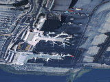 Aerial of la Guardia Airport in New York City Photographic Print by Ira Block