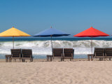 Beach Chairs Set Up Where the Waves Are Called the Mexican Pipeline, Mexico Photographic Print by Michael S. Lewis