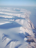 Aerial View of Snow-Blanketed Ellesmere Island Photographic Print by Ira Block