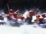 Blur Image of People Rafting Through Rapids, California Photographic Print by Kate Thompson