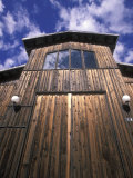 Clouds and Barn Door at Harmony Winery, California Photographic Print by Rich Reid