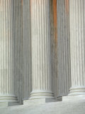 Closeup of Columns of Supreme Court Building, Washington, D.C. Photographic Print by Kenneth Garrett
