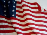 Close View of Historic American Flag, Stonington, Connecticut Photographic Print by Todd Gipstein