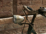 Close View of Rustic Bicycle, Ravenna, Italy Photographic Print by Gina Martin