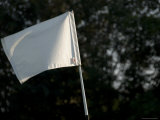 Close View of a Flag on a Golf Course, Groton, Connecticut Photographic Print by Todd Gipstein